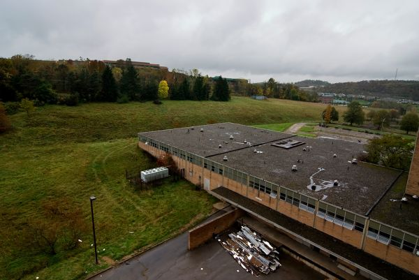 Photo of the abandoned Western Center in Canonsburg, PA