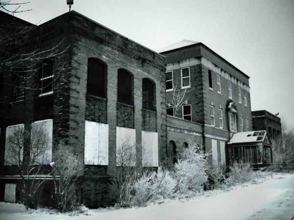 Photo of the abandoned Rochester State Hospital in Rochester, NY