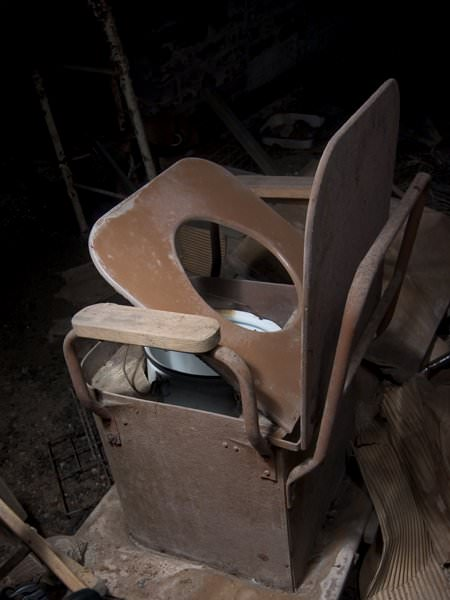 Commode; Northampton State Hospital