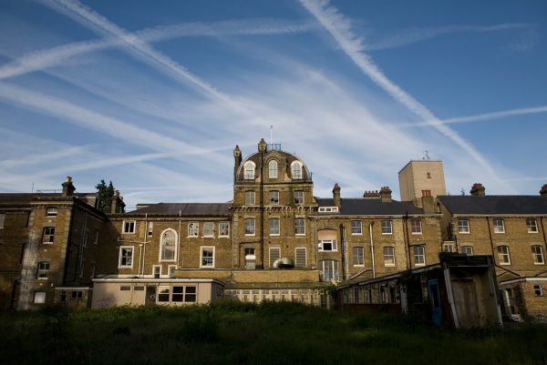Photo of the abandoned Normansfield Hospital in Teddington, Surrey England