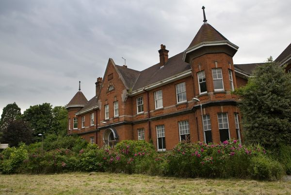 Photo of the abandoned Kingsley Psychiatric Hospital an undisclosed place in England