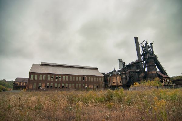 Photo of the abandoned Carrie Blast Furnace in Rankin, PA