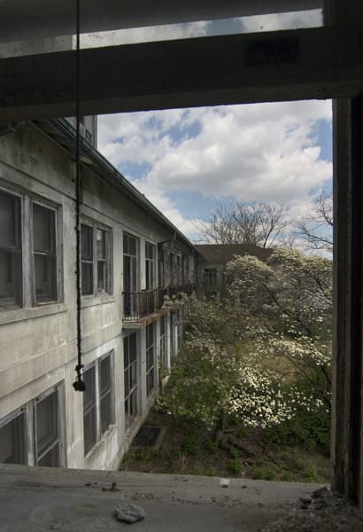 Photo of the abandoned Adonia State Hospital an undisclosed place in United States of America