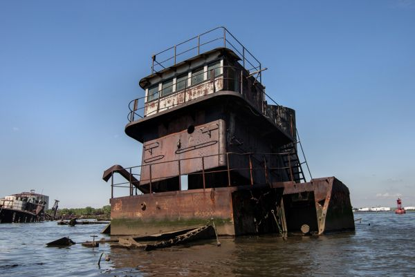 Staying Above the Waterline; Staten Island Boat Graveyard