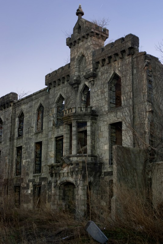 Photo of the abandoned Renwick Smallpox Hospital in Manhattan, NY