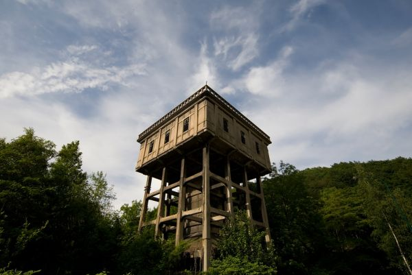 Photo of the abandoned Huy Mill in Huy, Liège Belgium