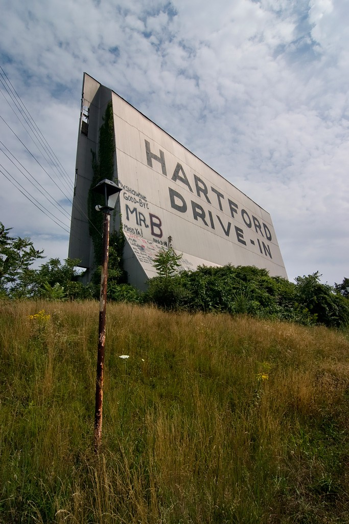 hartford drive in an abandoned drive in theater in newington ct. Black Bedroom Furniture Sets. Home Design Ideas