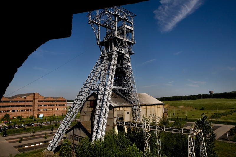 Photo of the abandoned Heusden-Zolder Coal Mine in Heusden-Zolder, Limberg Belgium
