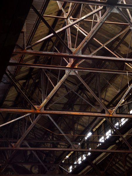 Ceiling Supports; Glenwood Power Plant