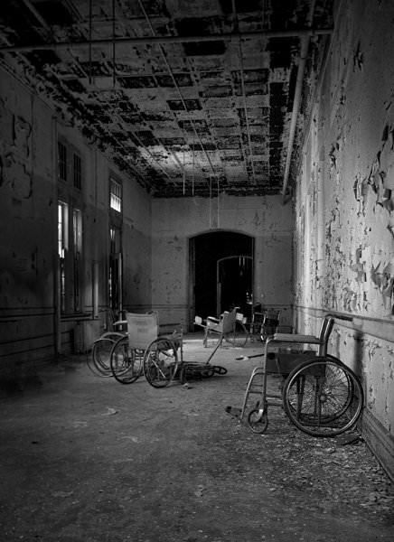 Photo of the abandoned Gravesend Asylum an undisclosed place in United States of America