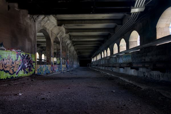 Photo of the abandoned Rochester Subway in Rochester, NY