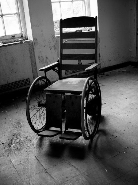 Wooden Wheelchair; Clairvaux Tuberculosis Hospital