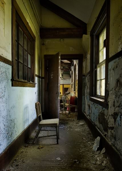 Photo of the abandoned Margate State School an undisclosed place in United States of America
