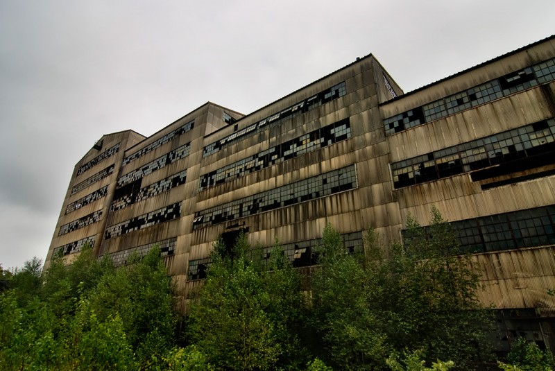 Photo of the abandoned Old Saint Nicholas Coal Breaker in Mahanoy City, PA